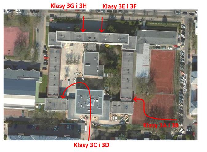 mapka wejścia do szkoły