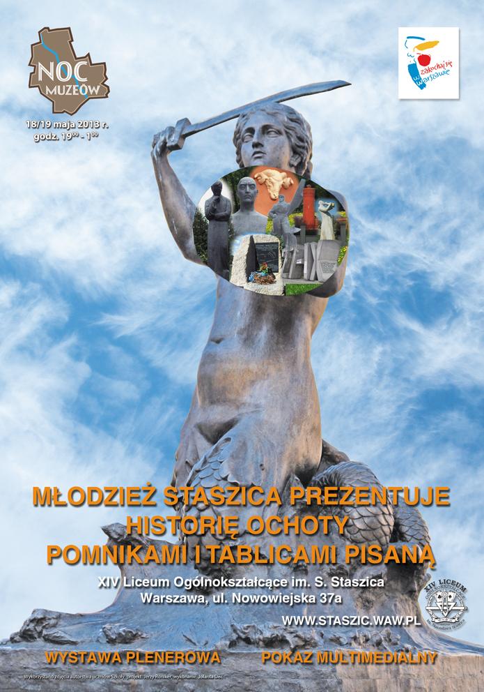 Plakat Noc Muzeów 2013 w Staszicu